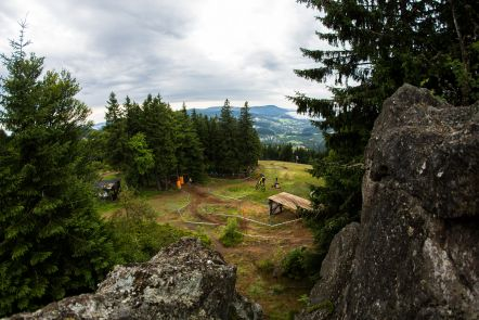 The dirt dried quick and the riders were loving the new conditions